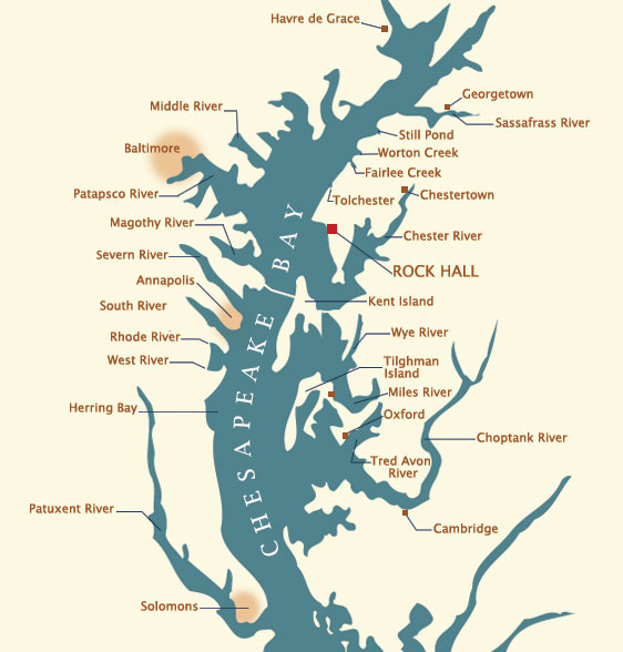 Chesapeake Bay Cruising Information | Haven Charters Rock Hall MD